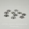 Бусина металлическая - спейсер (цвет - античное серебро ) 6,5х1,7 мм, 10 штук