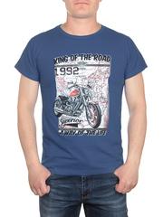 17624-3 футболка мужская, синяя