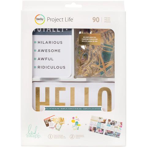 Kit набор карточек и украшений для Project Life 90шт