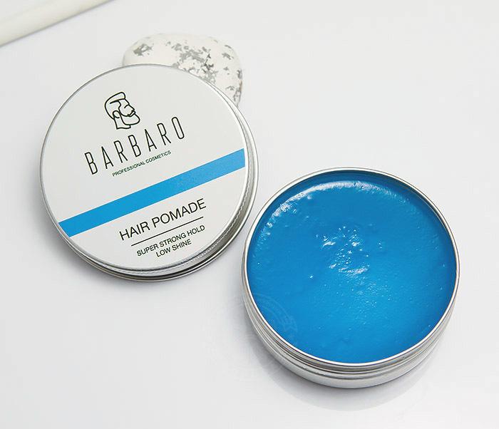 RAZ1004 Синяя помада для укладки волос «Barbaro», сильная фиксация (60 гр) фото 01