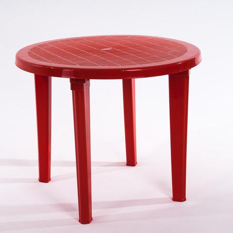 Стол круглый 900х900х740 мм. Цвет: Красный