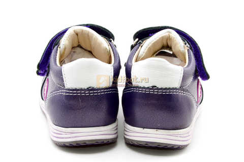 Ботинки для девочек Лель (LEL) из натуральной кожи на липучках цвет фиолетовый, 3-927A. Изображение 9 из 16.