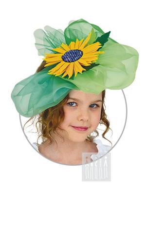 Фото Цветочная шляпка / Подсолнух рисунок Весенние персонажи