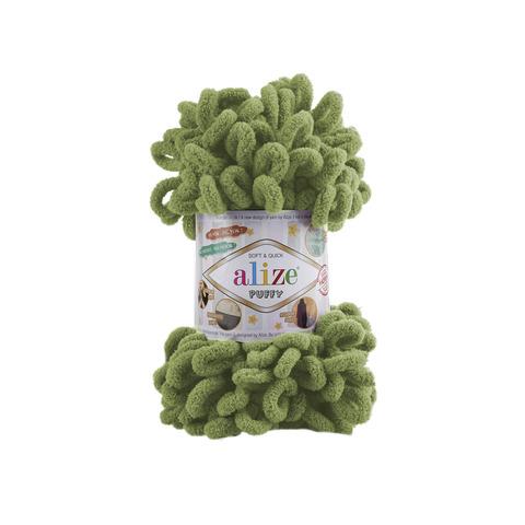 Купить Пряжа Alize Puffy Код цвета 485 Зеленая трава | Интернет-магазин пряжи «Пряха»
