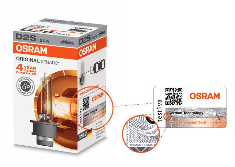 Проверка подлинности лампы D1S Original Osram