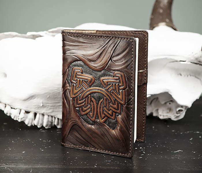 BC206-2 Крутой блокнот «Борода» ручной работы (А6) фото 03