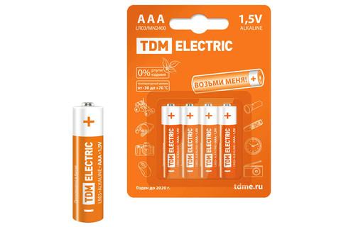 Элементы питания LR03 AAA Alkaline 1,5V BP-4 TDM