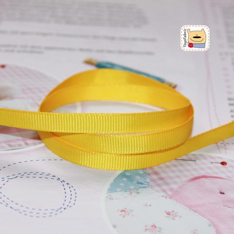 Лента репсовая 6мм (ярко желтый) ЛР6-31