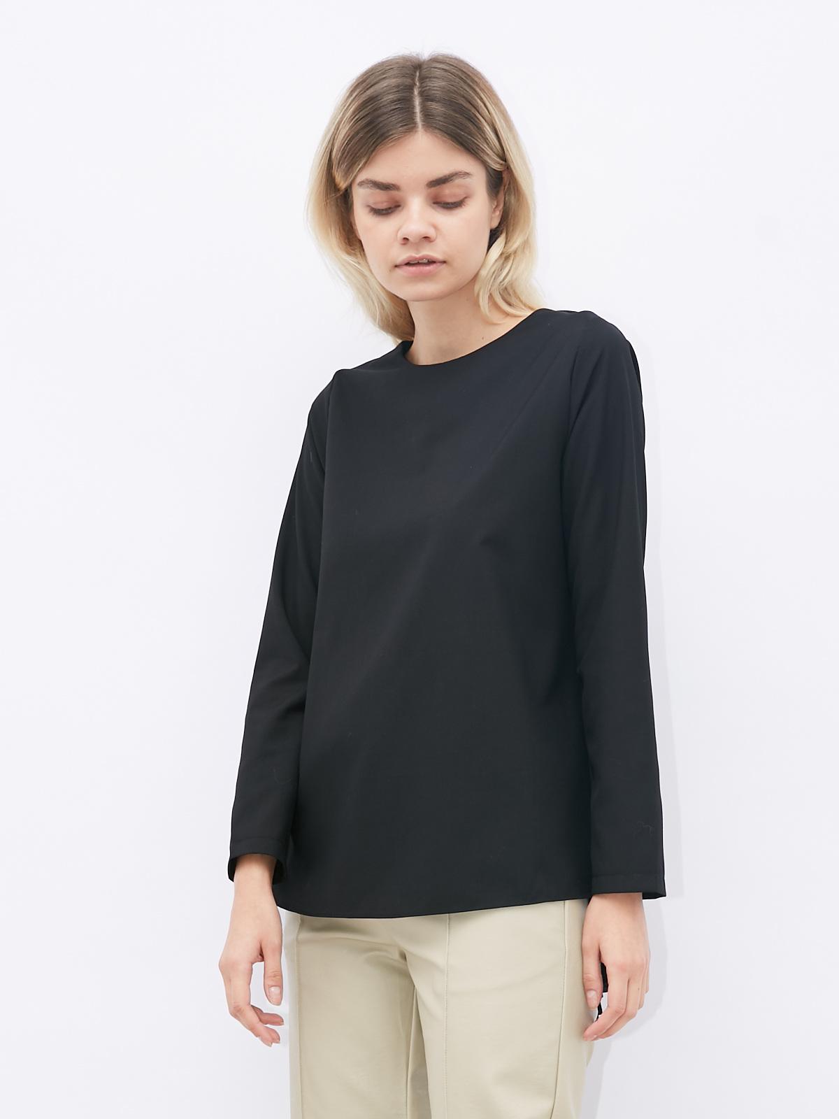 Блуза с плиссировкой на спине