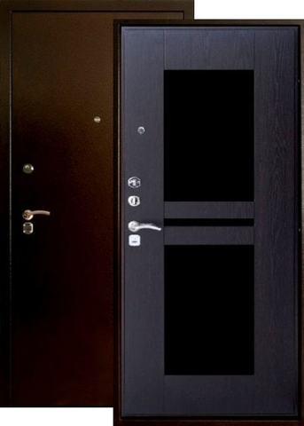 Дверь входная Форт Форт Б-24, 2 замка, 1,8 мм  металл, (медь антик+венге)