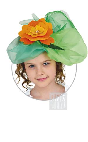Фото Цветочная шляпка / Бархатец рисунок Весенние персонажи
