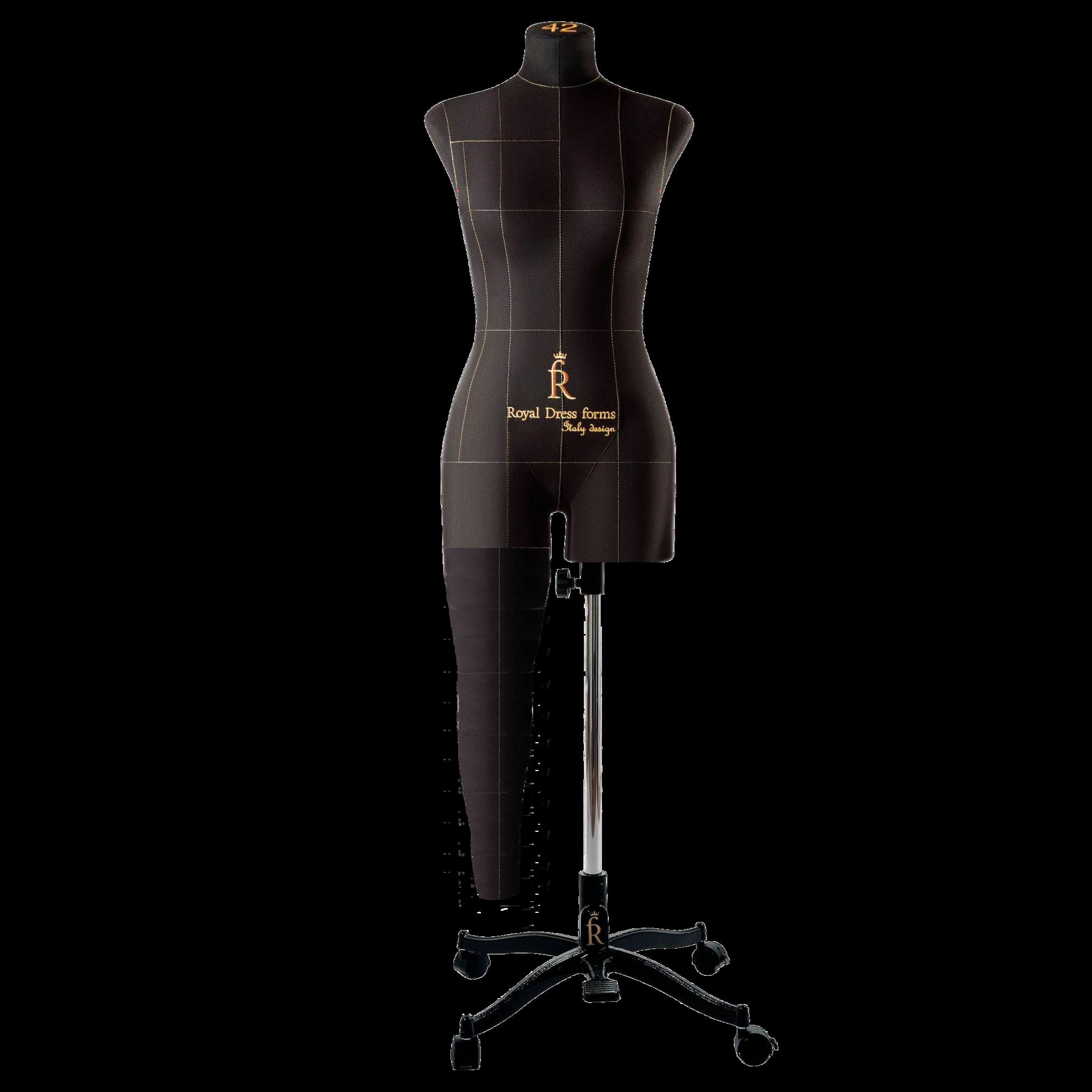 Нога черная для манекена Моника, 42 размер