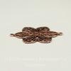 Винтажный декоративный элемент - коннектор Цветок (1-1) 26х20 мм (оксид меди)
