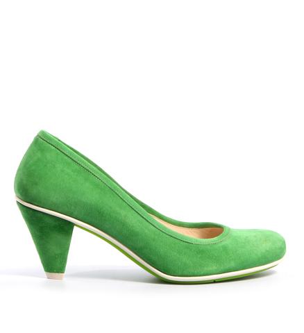 Туфли замшевые мятного цвета