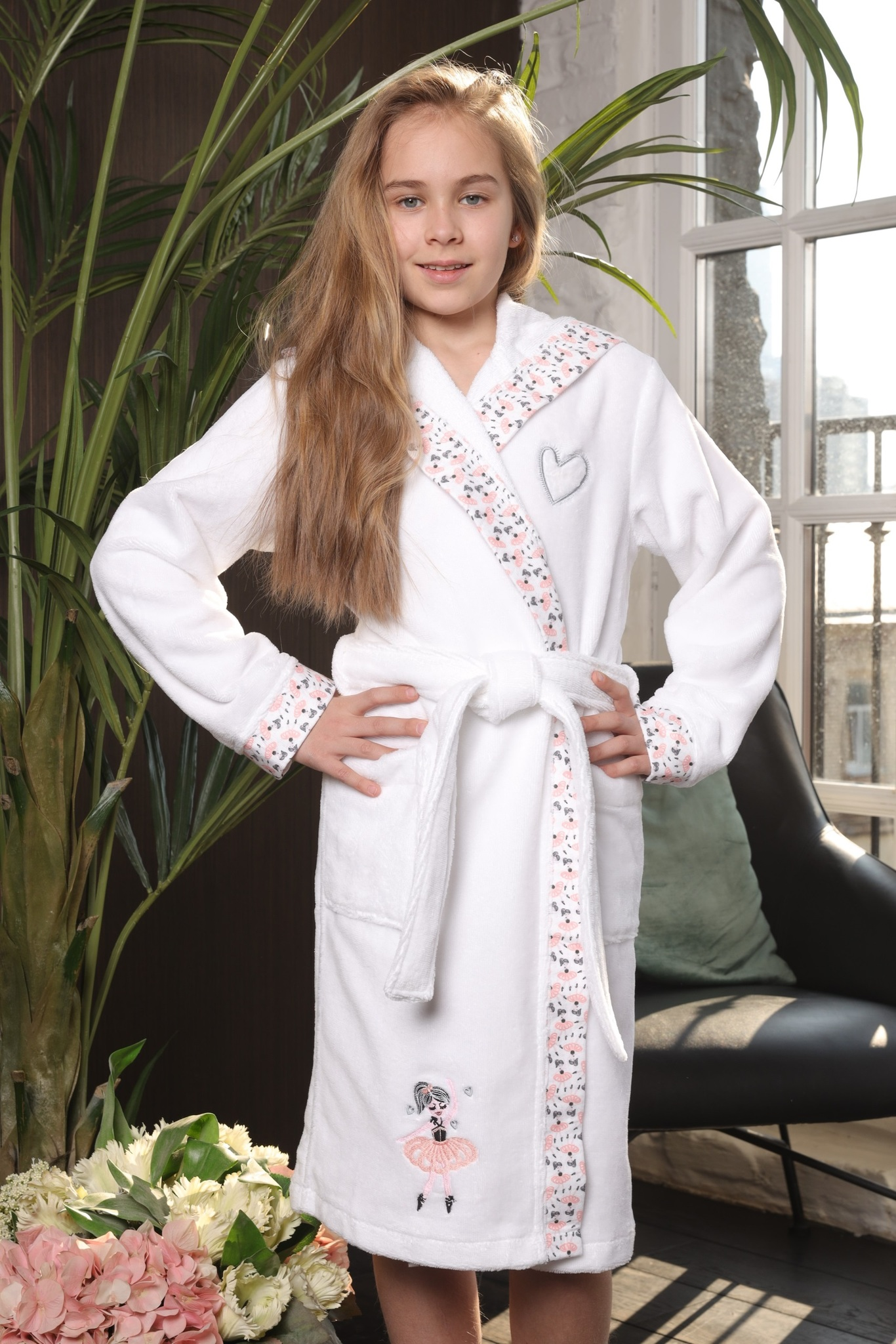 Халаты Balerinka белая детский халат для девочки  Five Wien Турция Balerinka__Бел.jpg