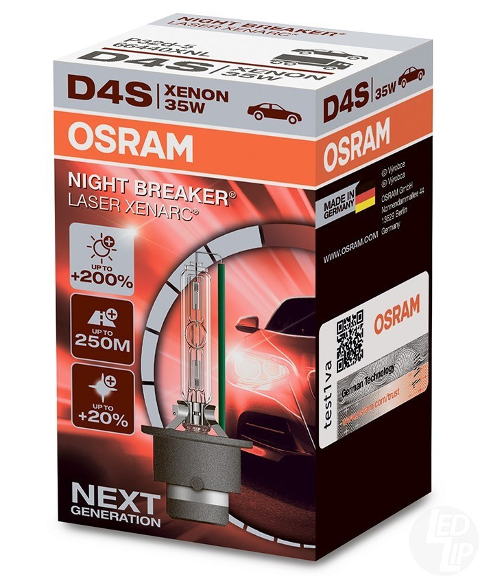 Ксеноновая лампа OSRAM D4S XENARC NIGHT BREAKER LASER +200%