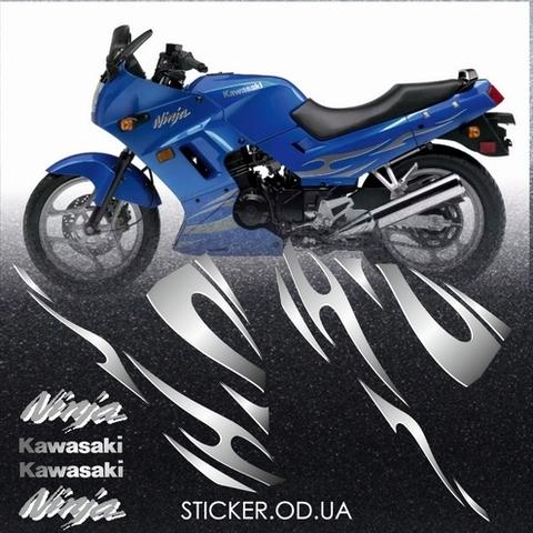 Набор виниловых наклеек на мотоцикл KAWASAKI NINJA 250R, 2007