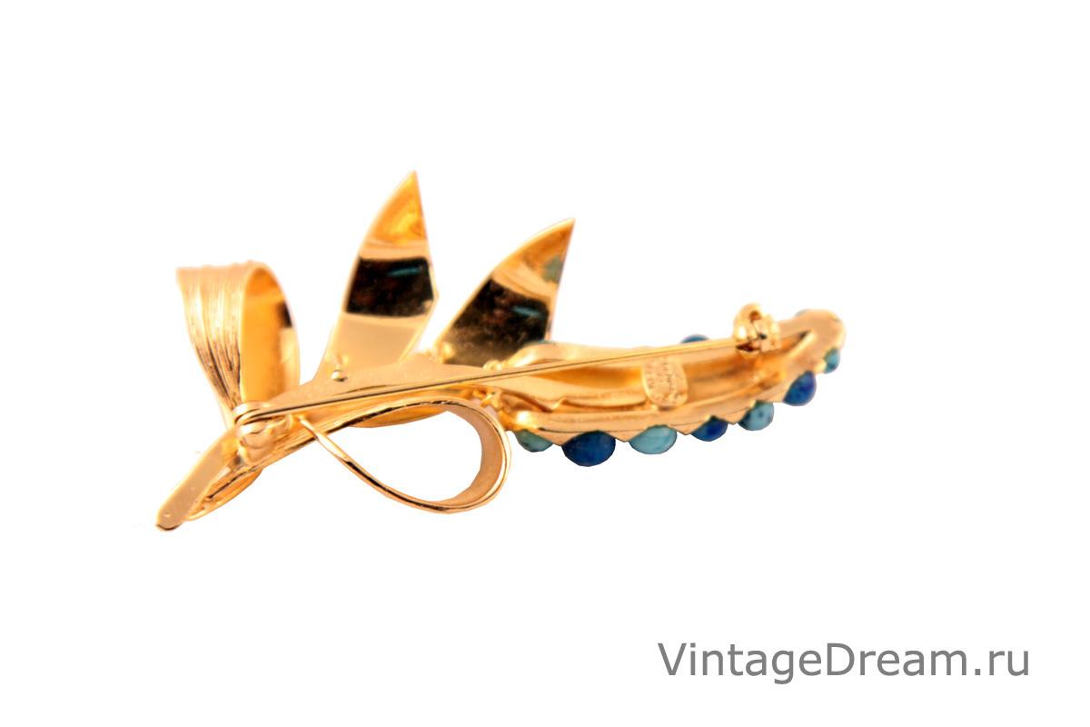 "Изысканная брошь ""Цветок"" от Christian Dior, 1965 год"