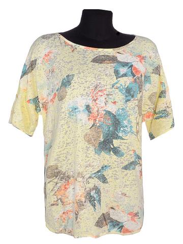 D11007-24 футболка женская, желтая