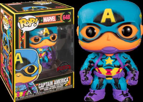 Captain America Marvel: Black Light Special Edition Funko Pop! || Капитан Америка
