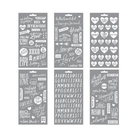 Стикеры на прозрачном пластике Me & My Big Ideas Pocket Pages Clear Stickers - True Love