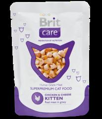 """Пауч для котят, Brit Care Cat, """"Курица и сыр"""""""