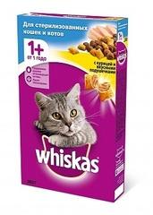Whiskas полноценный корм для стерилизованных кошек подушечки с паштетом со вкусом курицы