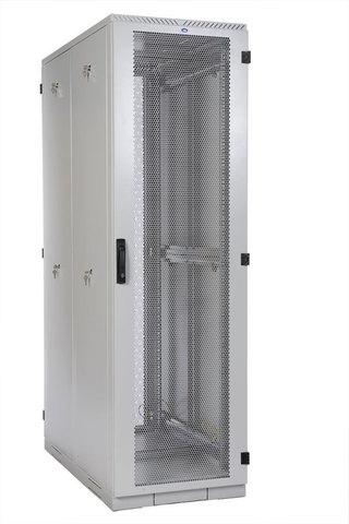 Шкаф серверный напольный 42U (600 × 1000) дверь перфорированная 2 шт.