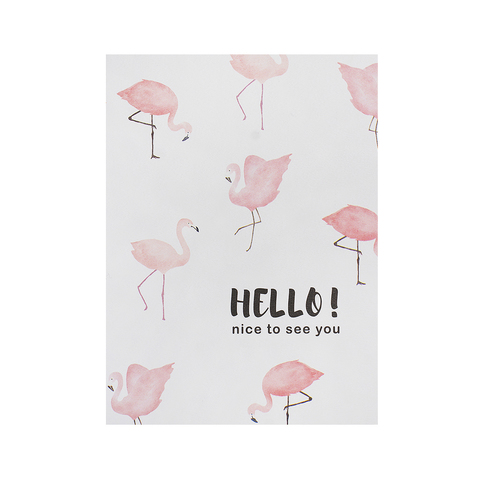 Открытка Flamingo White