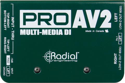 Radial Pro AV2 пассивный стерео мультимедиа директ-бокс