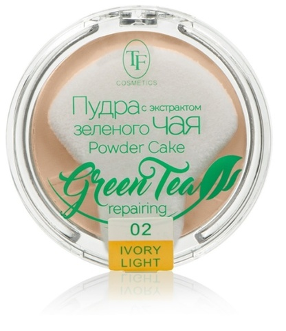 ТФ Пудра компактная для лица с экстрактом зеленого чая тон 02 слоновая кость ТР-16