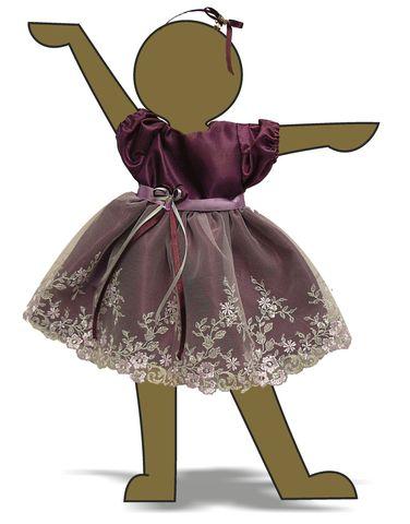 Платье из тафты - Демонстрационный образец ( для куклы 46-50см). Одежда для кукол, пупсов и мягких игрушек.