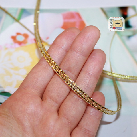 Лента металлизированная золотая 3мм ЛМ5 (1 ярд)