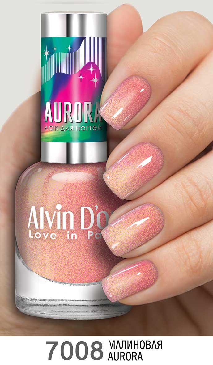 Alvin D`or Лак для ногтей AURORA  тон 7008