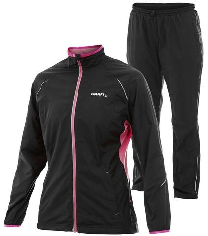 Беговой Костюм Craft Active Run женский Black/Pink