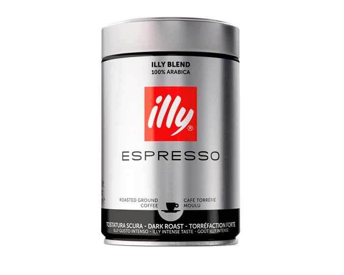Кофе молотый Illy Caffe Espresso Dark, 250 г (Илли)