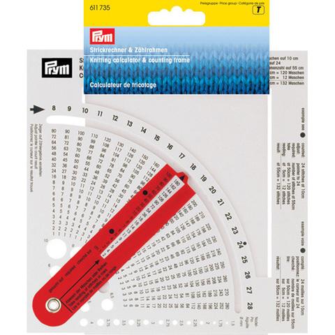 Таблица расчета плотности вязания PRYM 611735