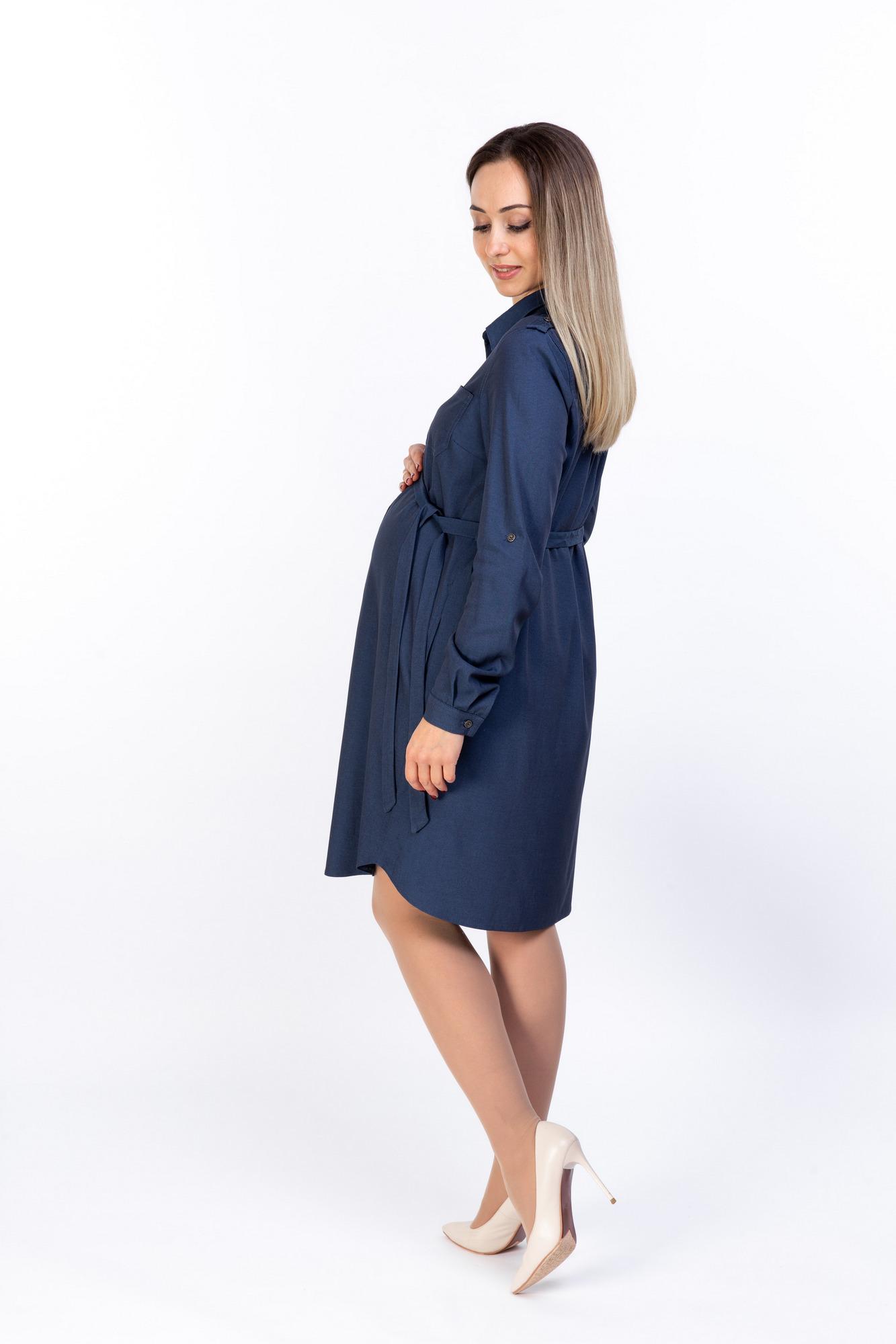 Платье для беременных 10786 синий