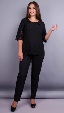Тэй Шик. Нарядный женский костюм плюс сайз. Черный.