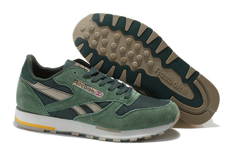Reebok Classic Leather Utility (Olive/Canvas/Chino/Prchmnt) (002)