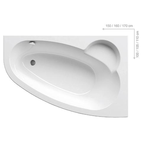 Акриловая ванна Ravak AVOCADO 160 P белая
