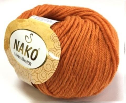 Пряжа Nako Merino Blend DK 6963 темно-оранжевый