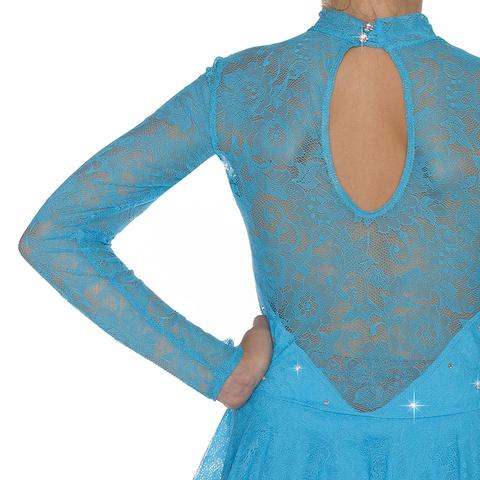 Платье «Ажур-Blue» (ПОД ЗАКАЗ)