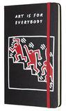 Блокнот Moleskine Limited Keith Haring Large 130х210мм 240стр линейка черный (LEKH01QP060)