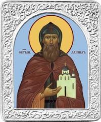 Святой Даниил. Маленькая икона в серебряной раме.