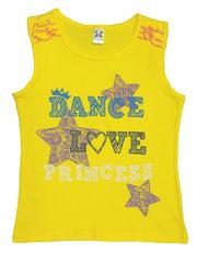 201515-1 футболка для девочек, желтая
