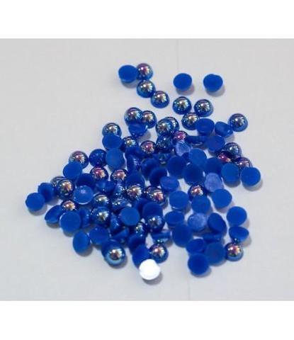 112 стразы круглые синие 100 шт