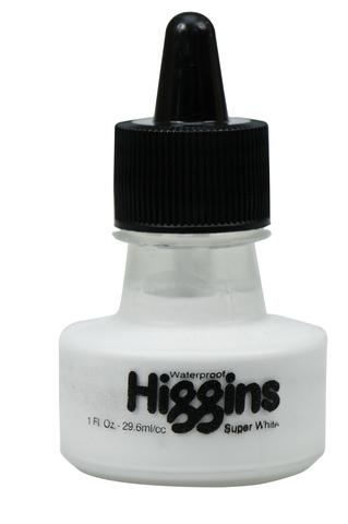 Пигментные чернила HIGGINS SUPER WHITE Pigment-Based 1 OZ, 29,6 мл
