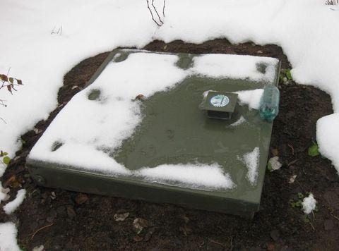 эксплуатация септика Топас зимой