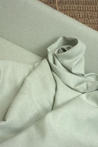 Льняная интерьерная ткань, цвет - мята